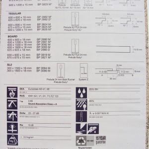 Фотография подвесной плиты Армстронг Перла ОП